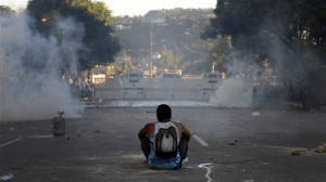 Manifestation au Venezuela. (AFP)