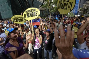 Manifestation des opposants au gouvernement à Caracas le 25 mai 2016. (AFP)