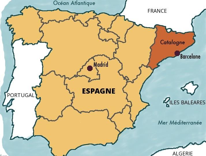 La Catalogne, une des 17 communautés autonomes d'Espagne