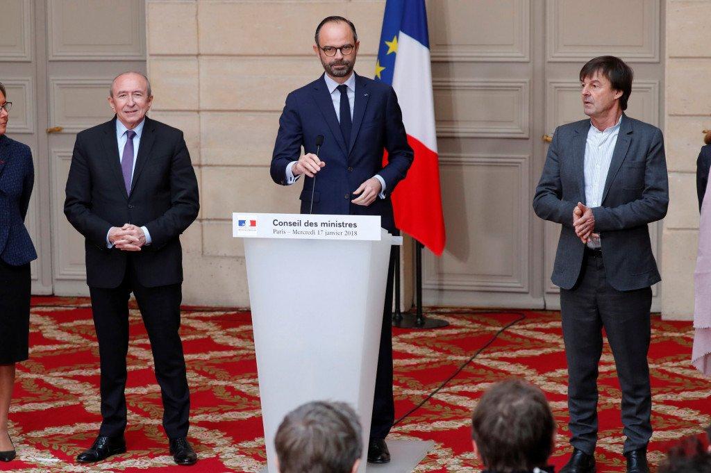 Edouard Philippe annonce l'abandon du projet d'aéroport à NDDL le 17 janvier (Reuter, Charles Platiau)